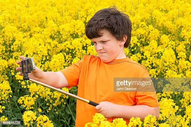 Using selfie stick