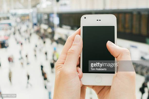 POV Using smart phone.
