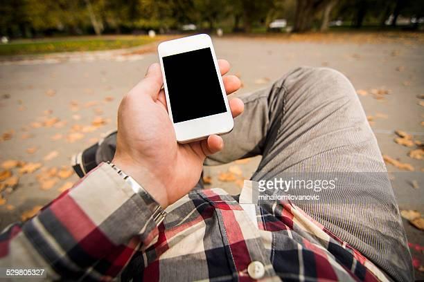 Using smartphone - POV