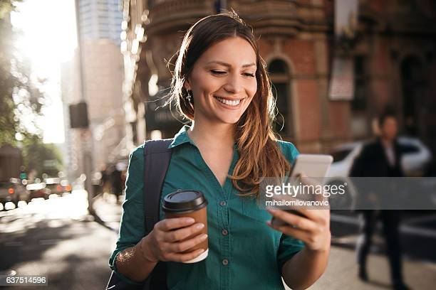 Using smartphone while crossing street
