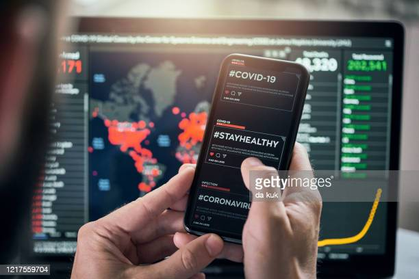 using #stayhealthy hashtag for social networking - covid icons stock pictures, royalty-free photos & images