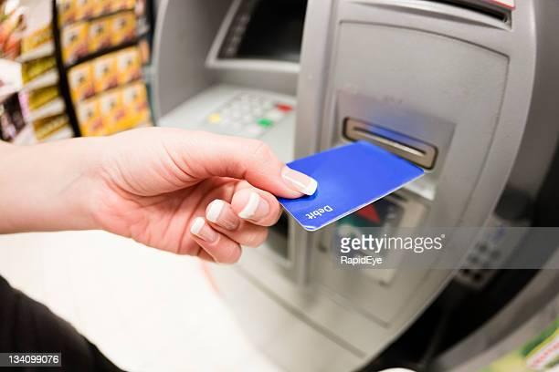 Using supermarket ATM