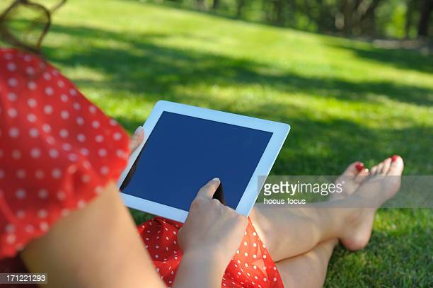 Using tablet pc in nature