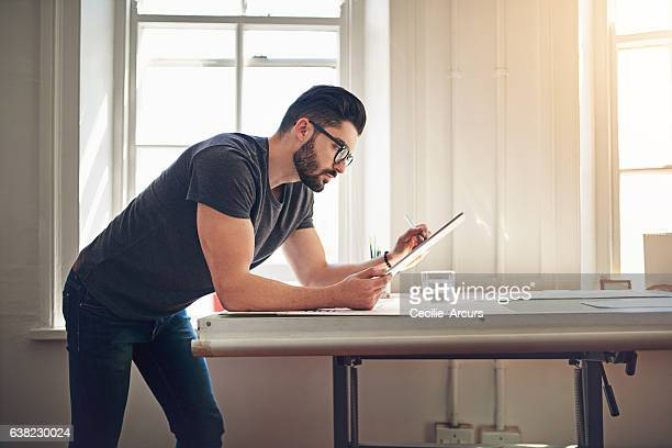 Using technology to communicate his ideas