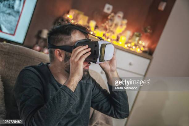 Using virtual reality - VR glasses