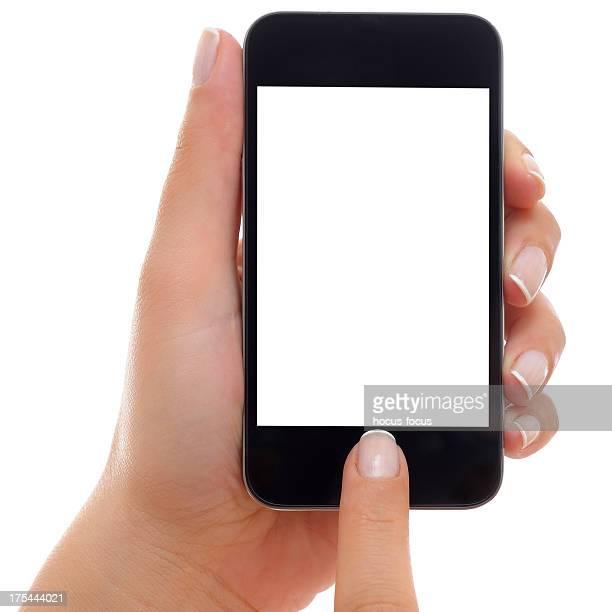 Using white screen smart phone