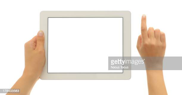 Using white screen tablet pc