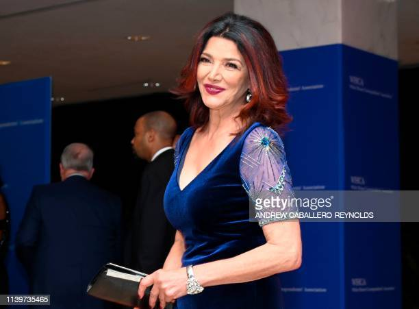 USIranian actress Shohreh Aghdashloo arrives on the red carpet for the White House Correspondents' Dinner in Washington DC on April 27 2019