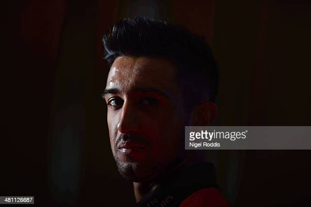 Usman Arshad of Durham poses for a portrait during the Durham CCC Photocall at The Riverside on March 28 2014 in ChesterLeStreet England