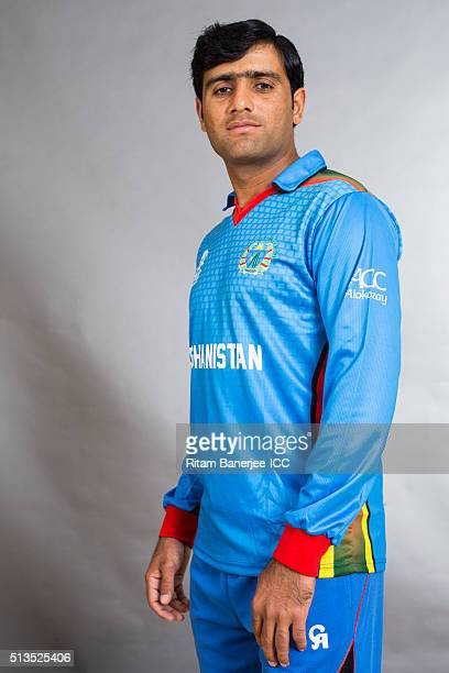 Usman Ghani of the Afghanistan poses during the official photocall for the ICC Twenty20 World on March 3 2016 in Mohali India