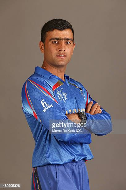 Usman Ghani poses during the Afghanistan 2015 ICC Cricket World Cup Headshots Session at the Intercontinental on February 7 2015 in Adelaide Australia