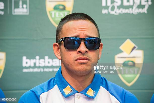 Usman Khawaja at the Commonwealth Bank Test Series Launch at Queen Street Mall on December 11 2016 in Brisbane Australia