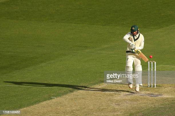 Usman Khawaja of Australia bats during the Four Day match between Australia A and the England Lions at Melbourne Cricket Ground on February 23 2020...