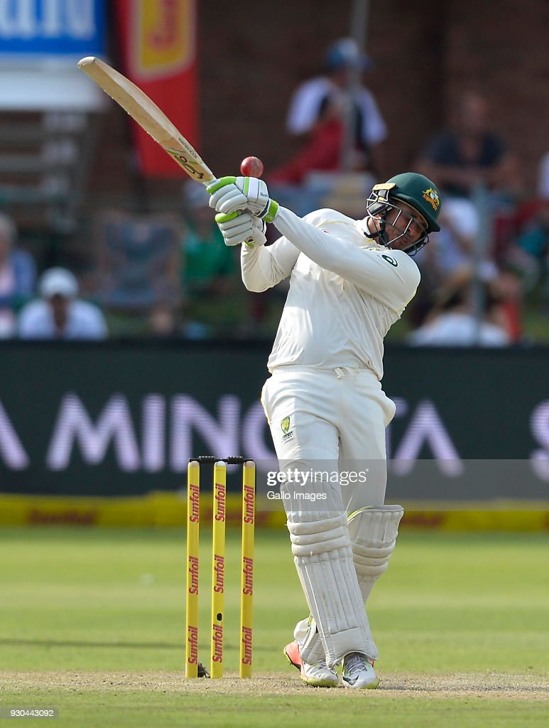 Usman Khawaja of Australia during day 3 of the 2nd Sunfoil Test match between South Africa and Australia at St Georges Park on March 11, 2018 in Port Elizabeth, South Africa.