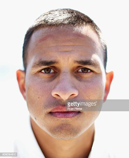 Usman Khawaja of Australia poses during a portrait session at Oriental Bay on February 10 2016 in Wellington New Zealand