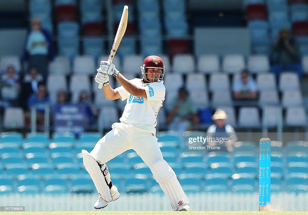 Usman Khawaja of Chairman's XI bats during day one of the international tour match between the Chairman's XI and Sri Lanka at Manuka Oval on December 6, 2012 in Canberra, Australia.