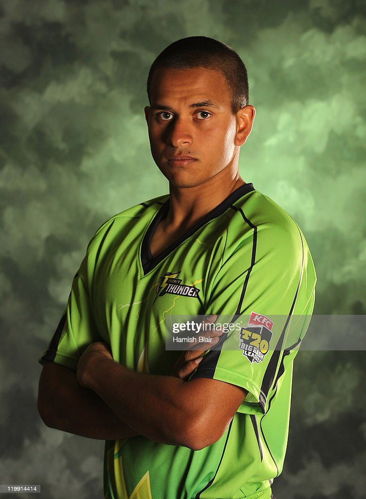 Usman Khawaja of the Sydney Thunder poses for a portrait ahead of the launch of the KFC T20 Big Bash League on July 27, 2011 in Sydney, Australia.