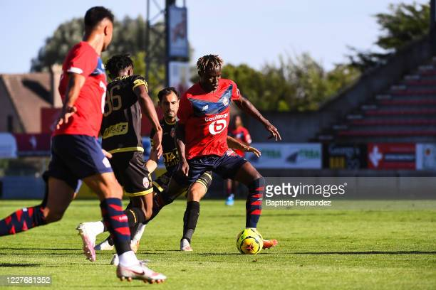 Usman SIMBAKOLI of Lille during the preseason soccer friendly match between Lille and Mouscron on July 18 2020 in Mouscron Belgium