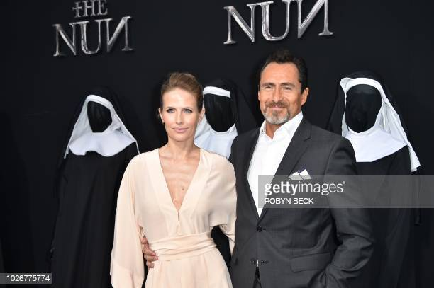 USMexican actor Demian Bichir and his wife singer Lisset Gutierrez attend the premiere of the film The Nun at the TCL Chinese Theatre in Hollywood...