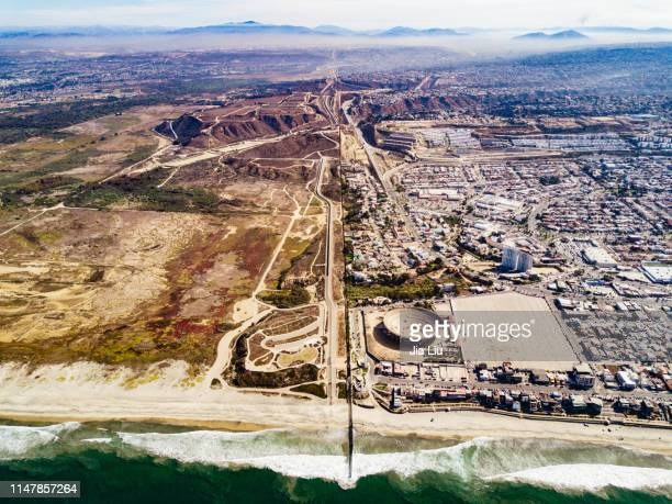 us-mexico border - tijuana stock pictures, royalty-free photos & images