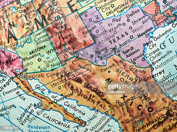 30 Hochwertige Mexico Usa Map Bilder und Fotos - Getty Images