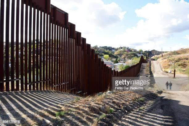 U.S.-Mexico border wall at Nogales, Arizona, USA