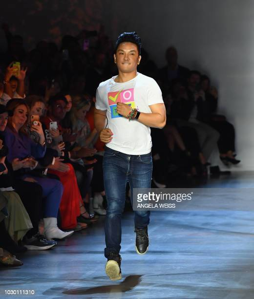US/Nepalese fashion designer Prabal Gurung walks the runway at the Prabal Gurung Spring/Summer 2019 show during New York Fashion Week at Spring...