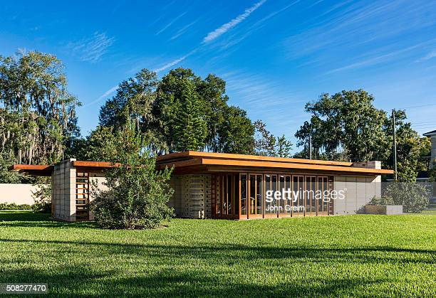 Usonian house designed by Frank Loyd Wright for Florida Southern College
