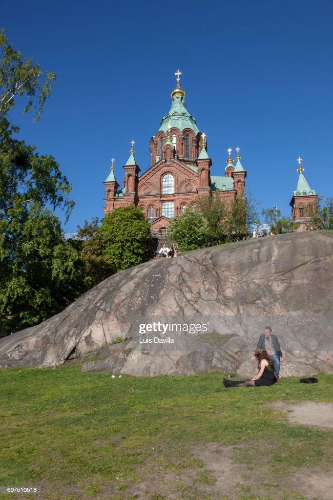 Uspenski Cathedral. Helsinki. Finland : Stock Photo