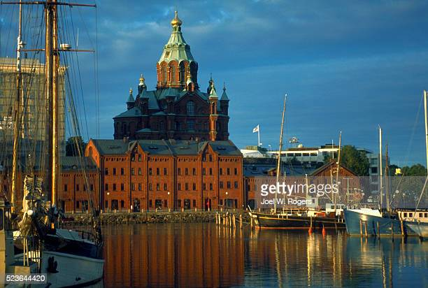 uspensky cathedral and harbor - faith rogers stock pictures, royalty-free photos & images