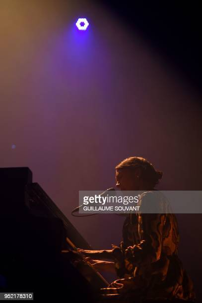 USsinger Alela Diane performs on stage during the 42th edition of 'Le Printemps de Bourges' rock and pop music festival in Bourges on April 27 2018