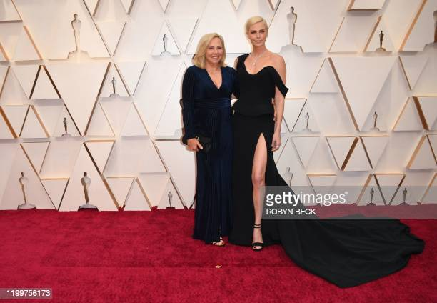 USSouth African actress Charlize Theron and her mom Gerda Jacoba Aletta Maritz arrive for the 92nd Oscars at the Dolby Theatre in Hollywood...