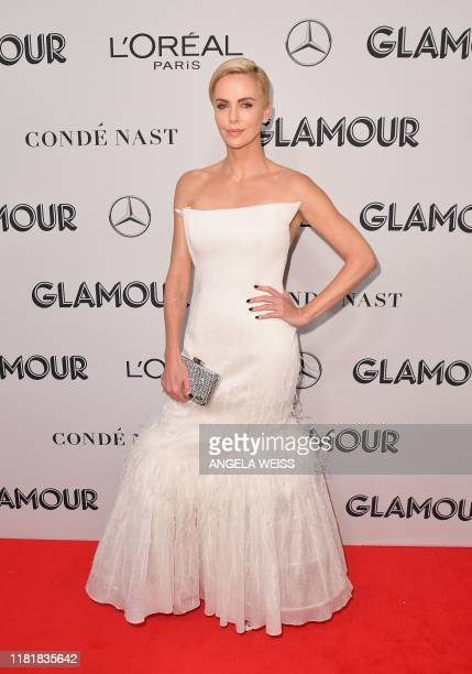 South African actress Charlize Theron attends the 2019 Glamour Women Of The Year Awards at Alice Tully Hall, Lincoln Center on November 11, 2019 in...