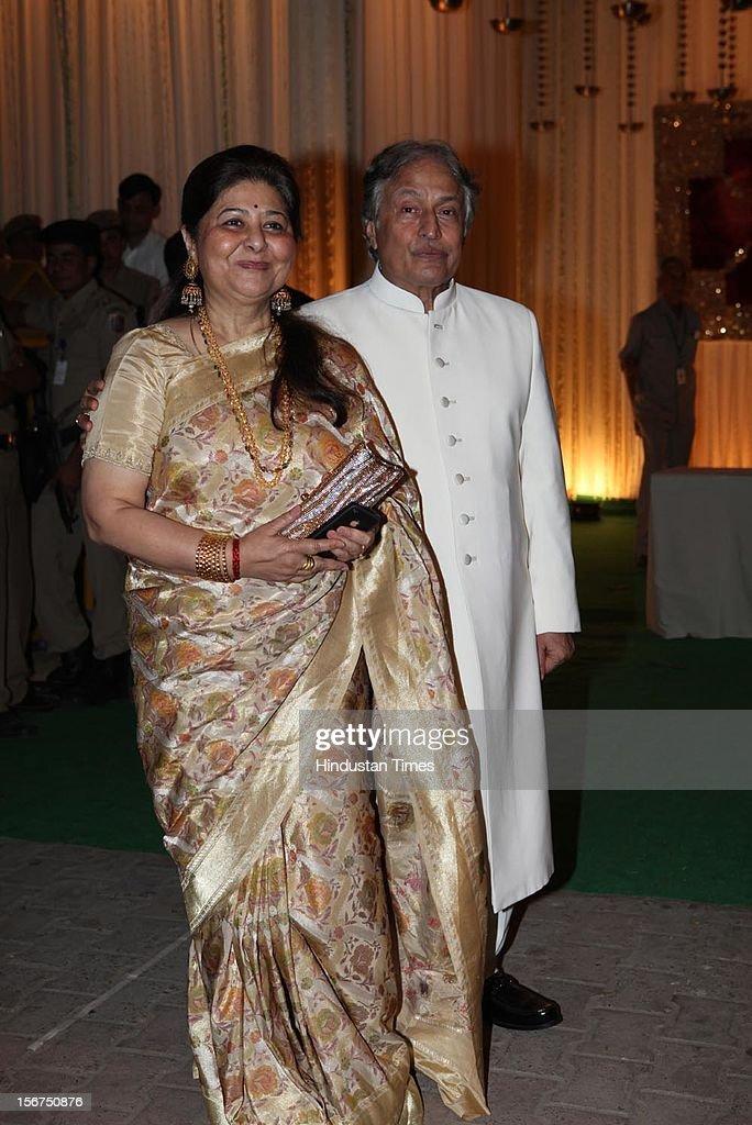 New Delhi India October 18 Ustad Amjad Ali Khan With Wife