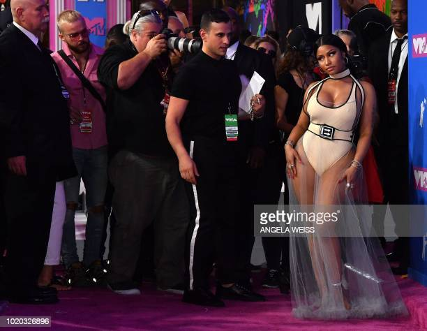 Trinidadian rapper Nicki Minaj attends the 2018 MTV Video Music Awards at Radio City Music Hall on August 20, 2018 in New York City.