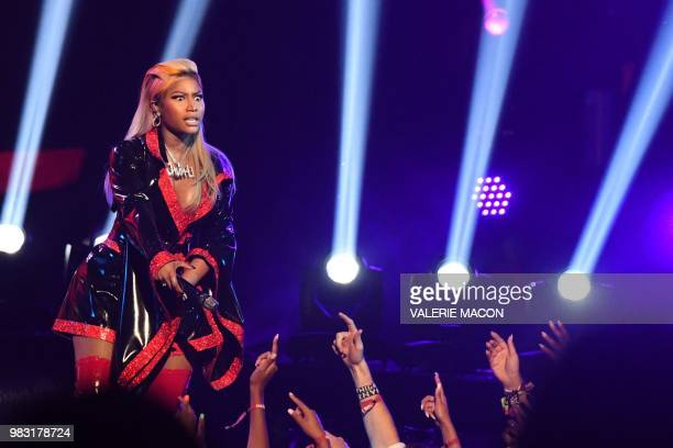 USTrinidadian rapper Nicki Minaj performs onstage during the BET Awards at Microsoft Theatre in Los Angeles California on June 24 2018