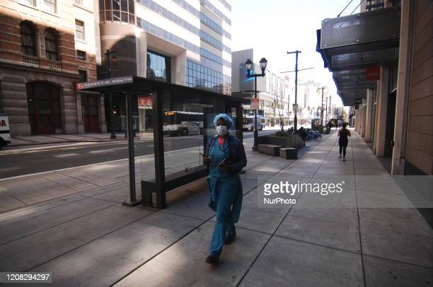 Usually bustling streets nearly empty as Philadelphians hunker down in their homes in the hopes the coronavirus pandemic will spare them even as...