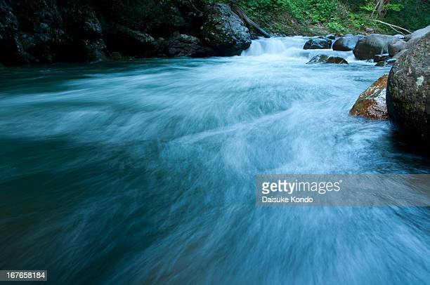 usubetsu river - flowing stock pictures, royalty-free photos & images