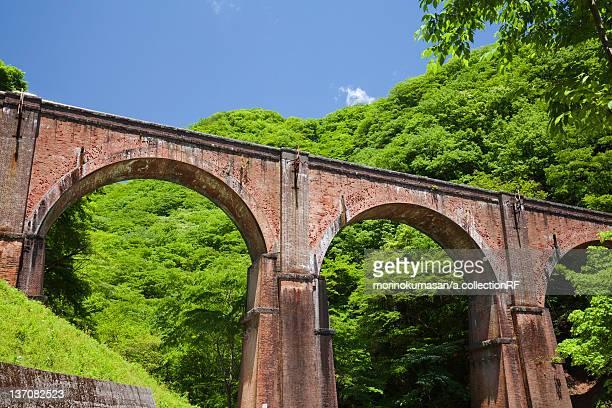 Usui Pass and railroad bridge, Gunma Prefecture, Japan