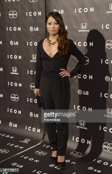 Usun Yun attends 'Icon' magazine launch party at the Circulo de Bellas Artes on November 6 2013 in Madrid Spain