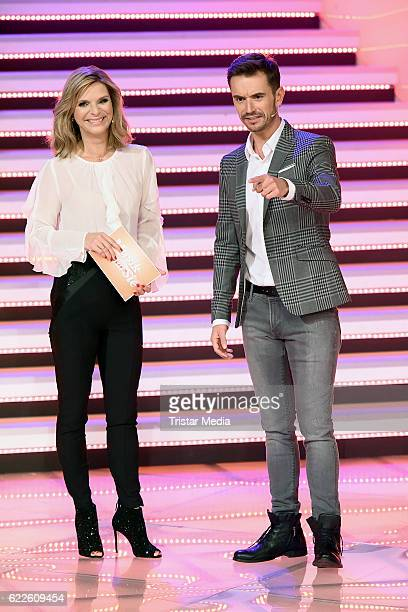 Uta Bresan and Florian Silbereisen during the 'Die Schlager des Jahres' on November 11 2016 in Suhl Germany