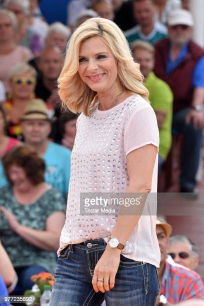 Uta Bresan during the ARD live tv show 'Immer wieder sonntags' at EuropaPark on June 17 2018 in Rust Germany
