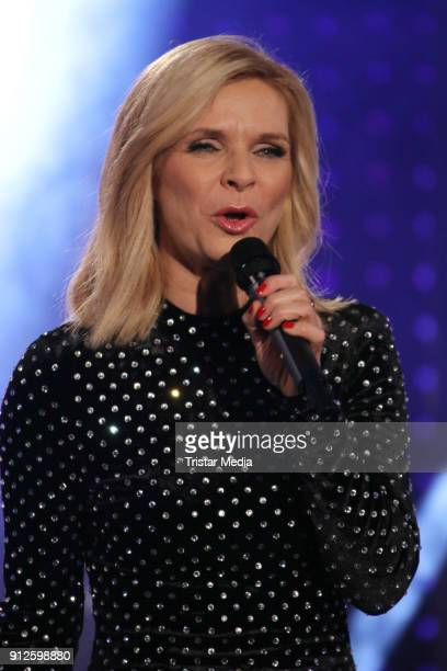 Uta Bresan during the TV Show 'Meine Schlagerwelt Die Party' hosted by Ross Antony on January 30 2018 in Leipzig Germany