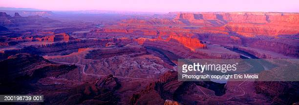 usa, utah, canyonlands, dead horse point, sunset - dead horse point state park stock pictures, royalty-free photos & images