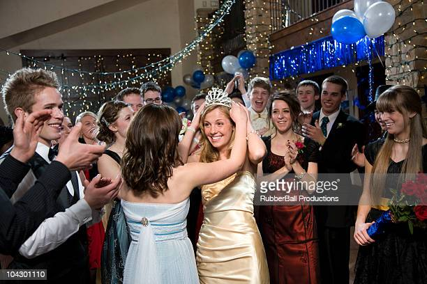 usa, utah, cedar hills, teenagers (14-17) at high school prom - prom stock pictures, royalty-free photos & images