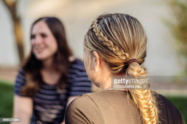 utah cowgirls friends - cowgirl hairstyles stock photos and pictures