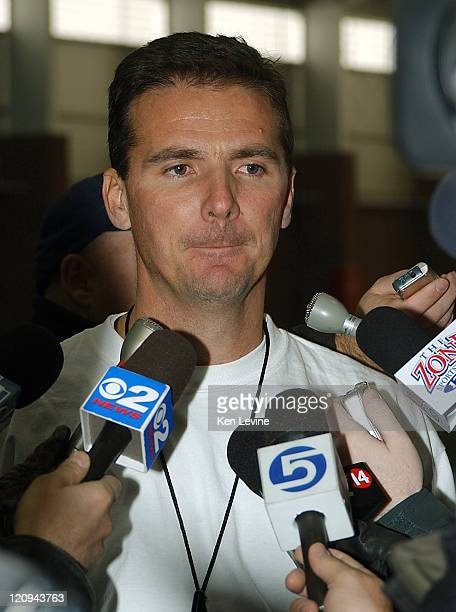 Utah football coach Urban Meyer talks to the press after Saturday morning's football practice and confirms that he has accepted the head football...