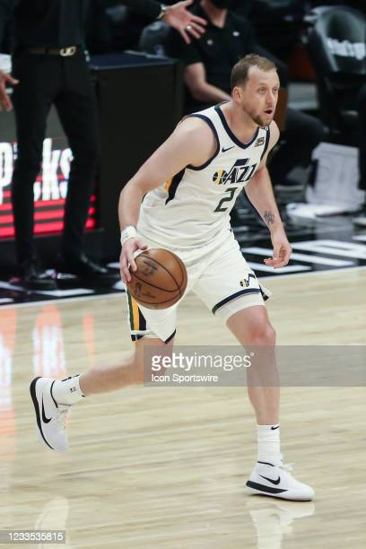 Utah Jazz guard Joe Ingles during game 6 of the second round of the Western Conference Playoffs between the Utah Jazz and the Los Angeles Clippers on...
