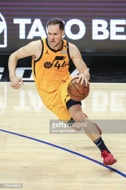 Utah Jazz guard Joe Ingles during the game 4 of the second round of the Western Conference Playoffs between the Utah Jazz and the Los Angeles...