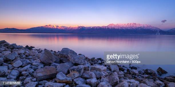 utah lake reflections ii - provo stock pictures, royalty-free photos & images